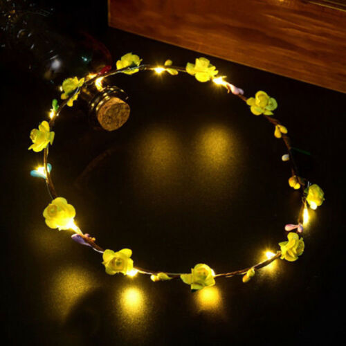 Pretty LED Flashing Floral Flower Hairband Headband Light-Up Wedding Accessory