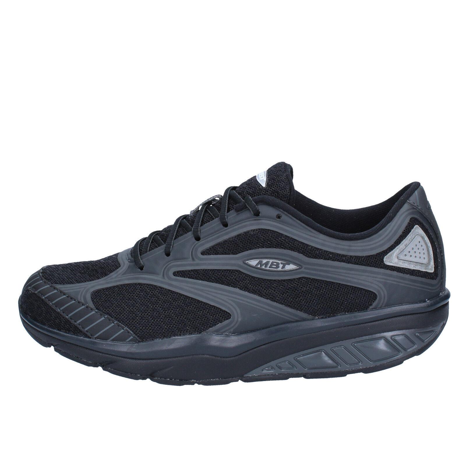 Scarpe donna scarpe da ginnastica MBT 36 EU scarpe da ginnastica donna nero tessuto AB939 C