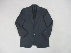 Brooks-Brothers-Jacket-Mens-38-Small-Black-Red-Blazer-Coat-Loro-Piana