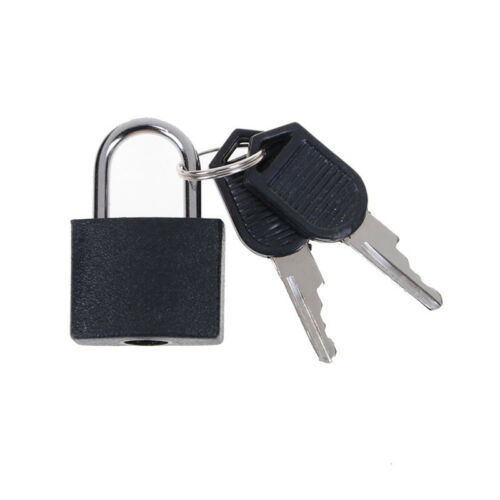 Hot sale Small Mini Strong Steel Padlock Travel Tiny Suitcase Lock with 2Keys DS