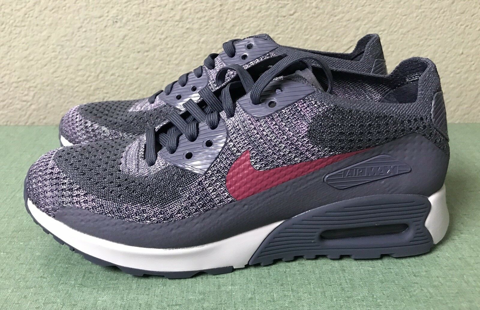 32f1dc6c09 Nike Air Max 90 Ultra 2.0 Flyknit Light Carbon Pink Force White Women's Sz  5.5