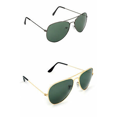 Combo of 2 Aviator Style Sunglasses(In Case & Wiping Cloth)(Goggles)