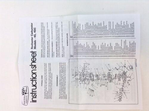 ROCHESTER 4GC CARBURETOR KIT 1957-1958 BUICK V8 7010070 7011570 7011600 7013100