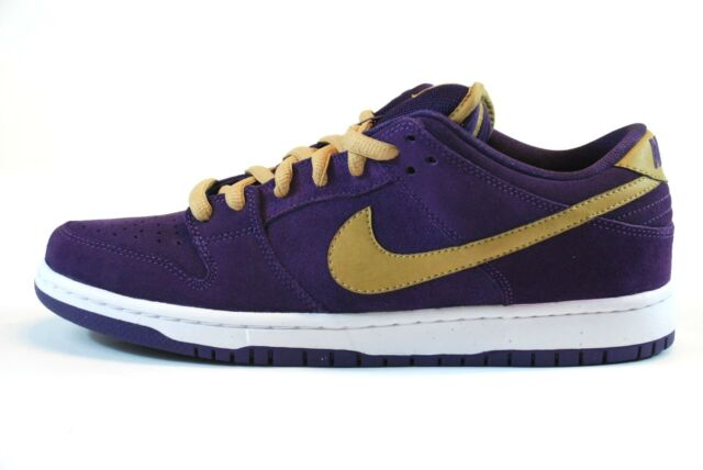 big sale f3231 fdf96 Nike DUNK LOW PREMIUM SB Quasar Purple Metallic Gold Skate (D) (164) Men's  Shoes