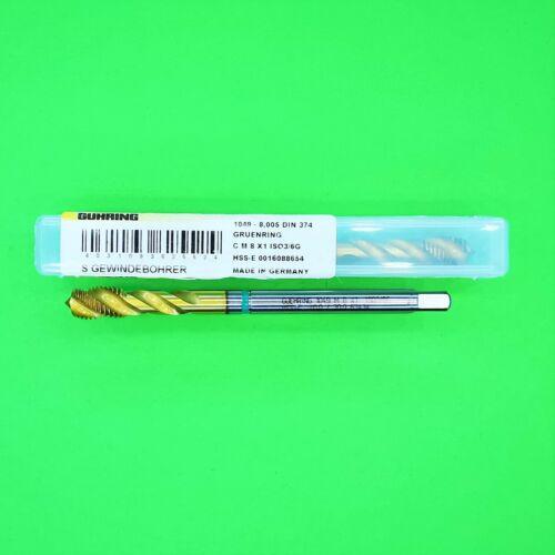 M8 x 1 Gewindebohrer HSS-E ISO3 6G DIN374  GÜHRING № 1049  5 Stück NEU