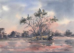 John-A-Case-A-Pair-of-Contemporary-Watercolour-Winter-Wonderlands