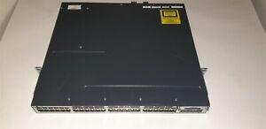 Cisco-Catalyst-WS-C3750X-48P-S-48-Port-Network-Switch-2-Power-2-Fan-C3KX-NM-10G