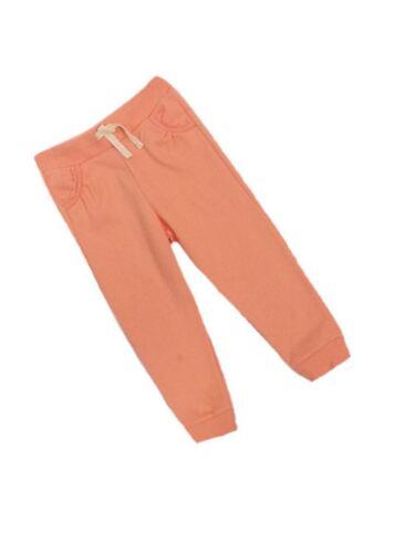 F/&F Girls Lace Trim pockets Joggers Jogging Bottoms Pale Orange Age 2 3 4 5 SALE