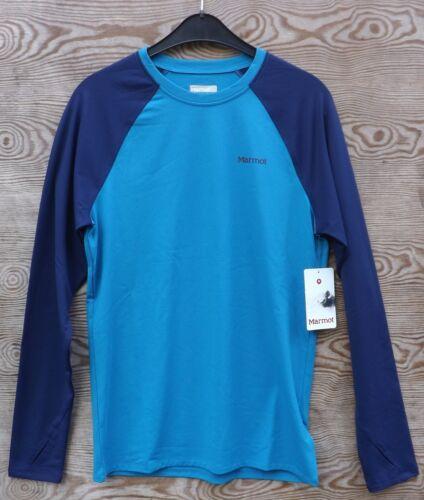 blau Langarm-Funktionsshirt für Herren Marmot Harrier Longsleeve Crew Men