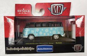 M2-Machines-AutoThentics-MIJO-BLUE-Flower-Power-1959-VW-Microbus-Deluxe-USA