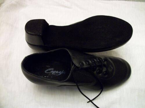 Capezio Men/'s Latin Oxford Dance Shoes Black Leather BR01 New In Box