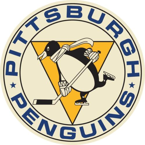 Pittsburgh Penguins Vintage Vinyl Sticker Decal Cornhole Truck Wall Bumper Car