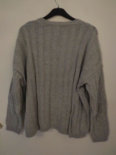 BNWT LADIES M/&S COLLECTION RANGE LONG SLEEVED GREY MARL JUMPER SIZE 24