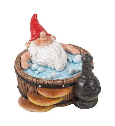 BRAND NEW GNAUGHTY GNOMES HOT TUB GARDEN ORNAMENT
