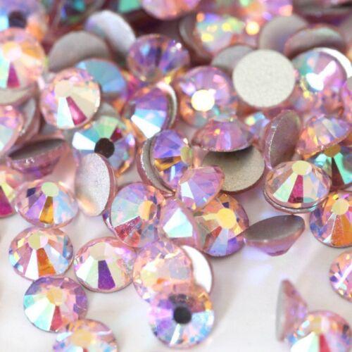 200 pcs ss6 Light Rose AB Glass Flatback Rhinestones Top Quality Nail Art