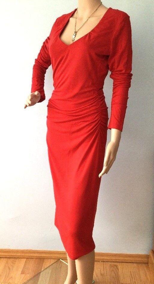 Womens Sexy Red Dress Moda International Victoria's Secret Siren Red Bodycon S