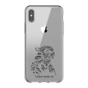 Coque Iphone X et XS perroquet tatoo personnalisee