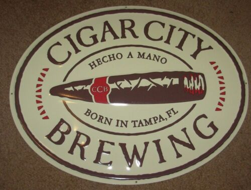 CIGAR CITY BREWING Hunahpu/'s Logo METAL TACKER SIGN craft beer brewery brewing