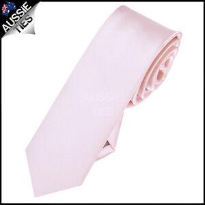 MENS-BABY-LIGHT-PINK-SKINNY-5CM-TIE-necktie-thin-narrow-slim