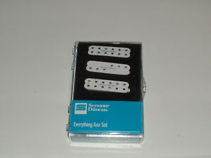 Seymour Duncan Everything Axe Pickup Set for Strat WHITE  New in Box Warranty