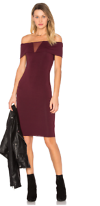 Bailey 44 Woherren Esther Dress w sheer mesh detail in Berry Größe Large NWT