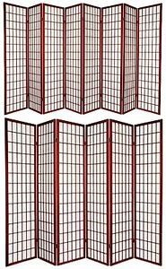6 and 8 Panel Japanese-Oriental Style Shoji Screen Room ...