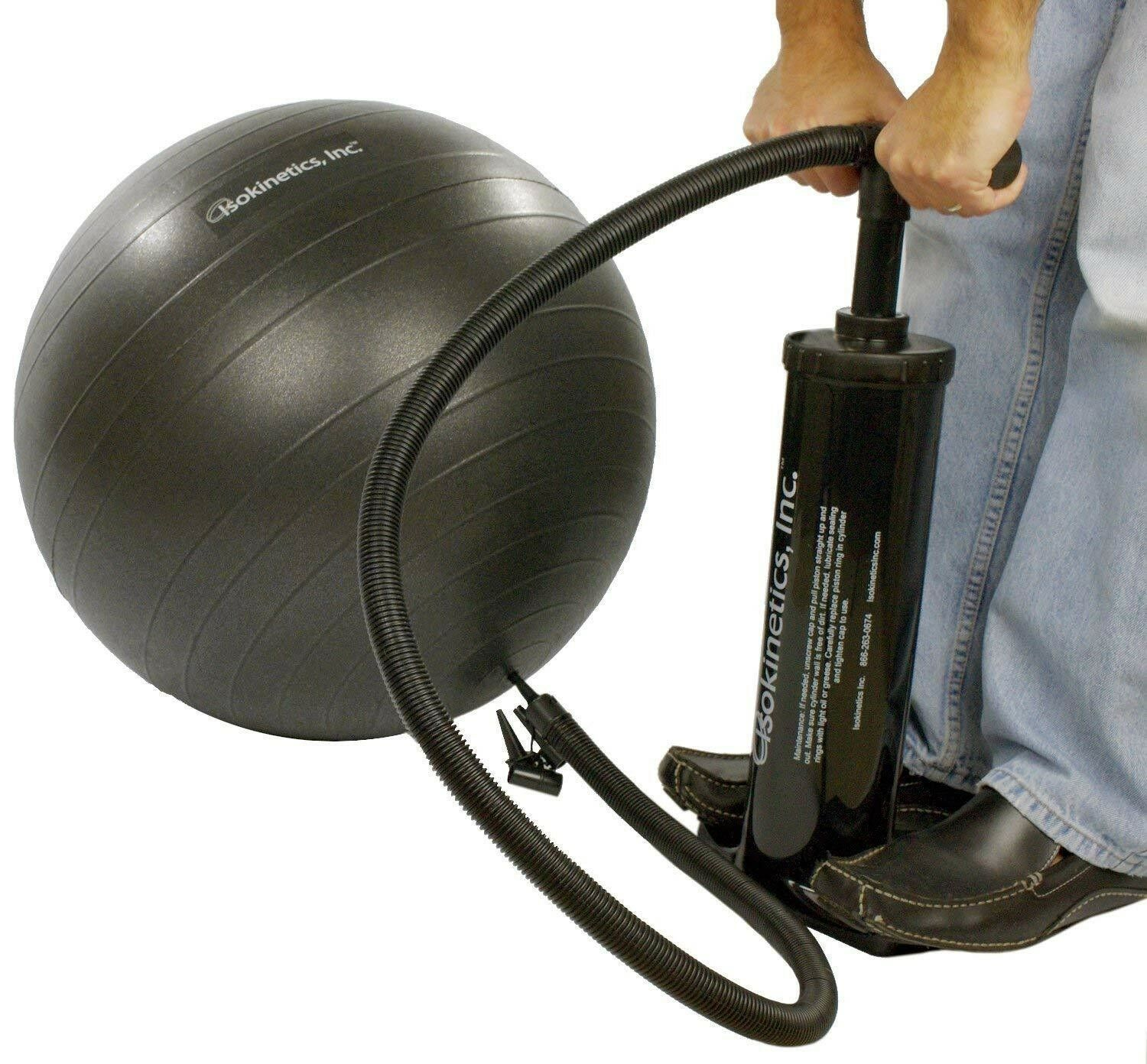 Isokinetics Inc. Exercise Air Ball Air Exercise Pump Multiple Nozzles 18