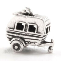 3d Travel Trailer Rv Hitch Camper Camping Charm Pendant 925 Sterling Silver