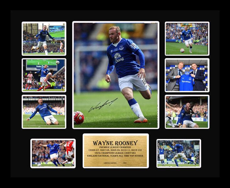 Nuevo Wayne Rooney Firmado Everdeon recuerdos de edición limitada Enmarcado