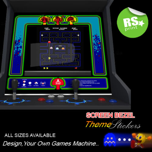 Arcade Bezel Stickers Artwork Graphics / Laminated  Centipede + More