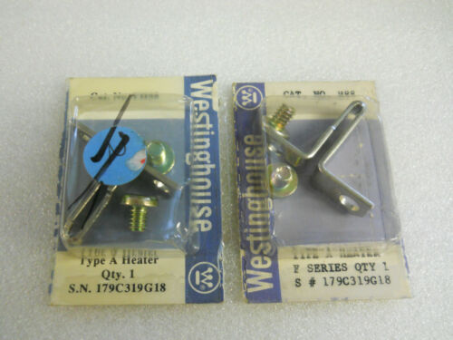 WESTINGHOUSE FH88 TYPE A HEATERS SET OF 2 179C319G18 NEW CONDITION IN BOX