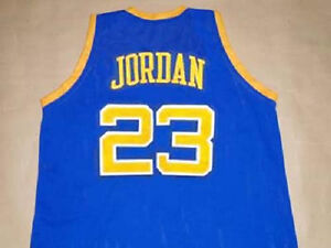 best sneakers 3033e 62e7d MICHAEL JORDAN LANEY HIGH SCHOOL JERSEY BUCS BLUE NEW ANY ...