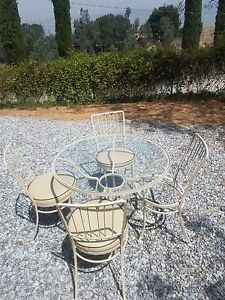 Incredible Details About O W Lee Espresso Vintage 1960S Wrought Iron Patio Set Made In California Download Free Architecture Designs Viewormadebymaigaardcom