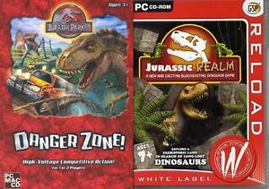Jurassic-Park-3-Danger-Zone-amp-jurassic-realm-NO-MANUALS