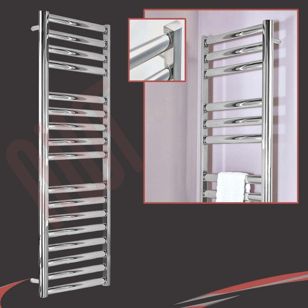 500 mm (W) x 1600 mm (H)  Galaxy  en acier inoxydable poli Chauffé rail serviette