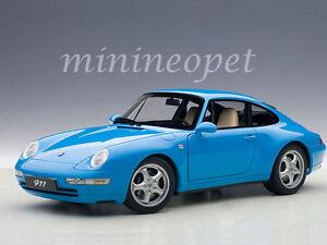 1/18 Autoart Porsche 911 993 Carrera (1995) - Vitrine Bleu Gratuit