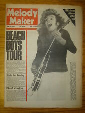 MELODY MAKER 1977 JUN 18 BEACH BOYS PETER FRAMPTON RODS