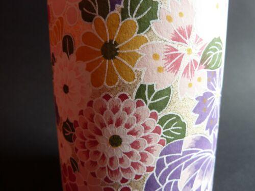 fabriqué au Japon Yuzen Boite thé Japanese traditional Paper Yuzen Nittoh, fleurs