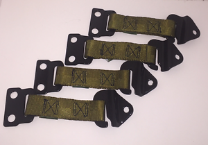 Image is loading 4-HUMVEE-X-door-Limiter-Straps-M998-HMMWV- & 4) HUMVEE X-door Limiter Straps- M998 HMMWV 2 Left/2 Right Military ...