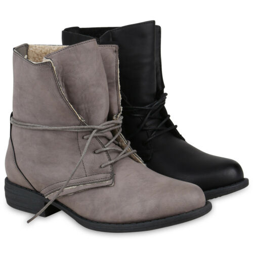 Damen Stiefeletten Outdoor Winterboots Warm Gefüttert 895732 Schuhe
