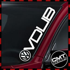 Constructif Vdub Voiture/van Pare-brise Decal Sticker Volkswagen Dub Euro Vw - 17 Couleurs 550 Mm-afficher Le Titre D'origine