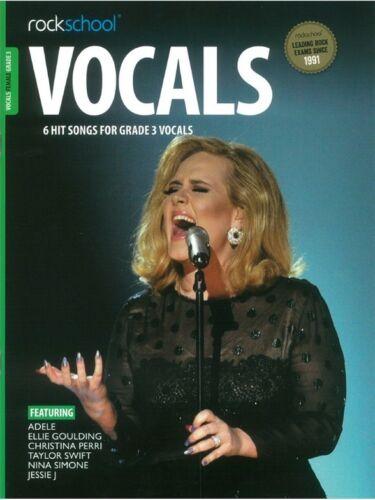Rockschool Vocals Grade 3 Female Audio Download Voice MUSIC BOOK /& DOWNLOAD