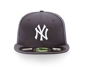 uk availability 35f16 b4d74 Image is loading New-York-Yankees-MLB-Authentic-Collection-59FIFTY-Cap
