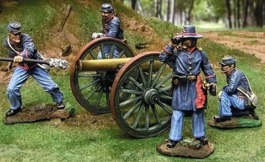 Escaparate de coleccionista-CS00253-conjunto de artillería de Unión-ACW