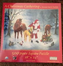 Sealed SunsOut 500 Piece Puzzle: A Christmas Gathering By Brenda Harris Tustian