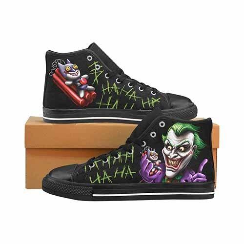 Scarpe casual da uomo  Joker Bat Bomb Batman uomo's Classic High Top Canvas Shoes DC