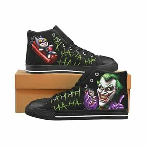 Joker-Bat-Bomb-Batman-Men-s-Classic-High-Top-Canvas-Shoes-DC