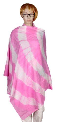 Tie Dye Cotton Scarf Women Stole Warp Pink Shawls Handmade Girls Dupatta Pario