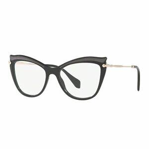 Eyeglasses-Woman-Miu-Miu-06PV-VIE1O1-Frames-Black-Cat-Glitter-Cat