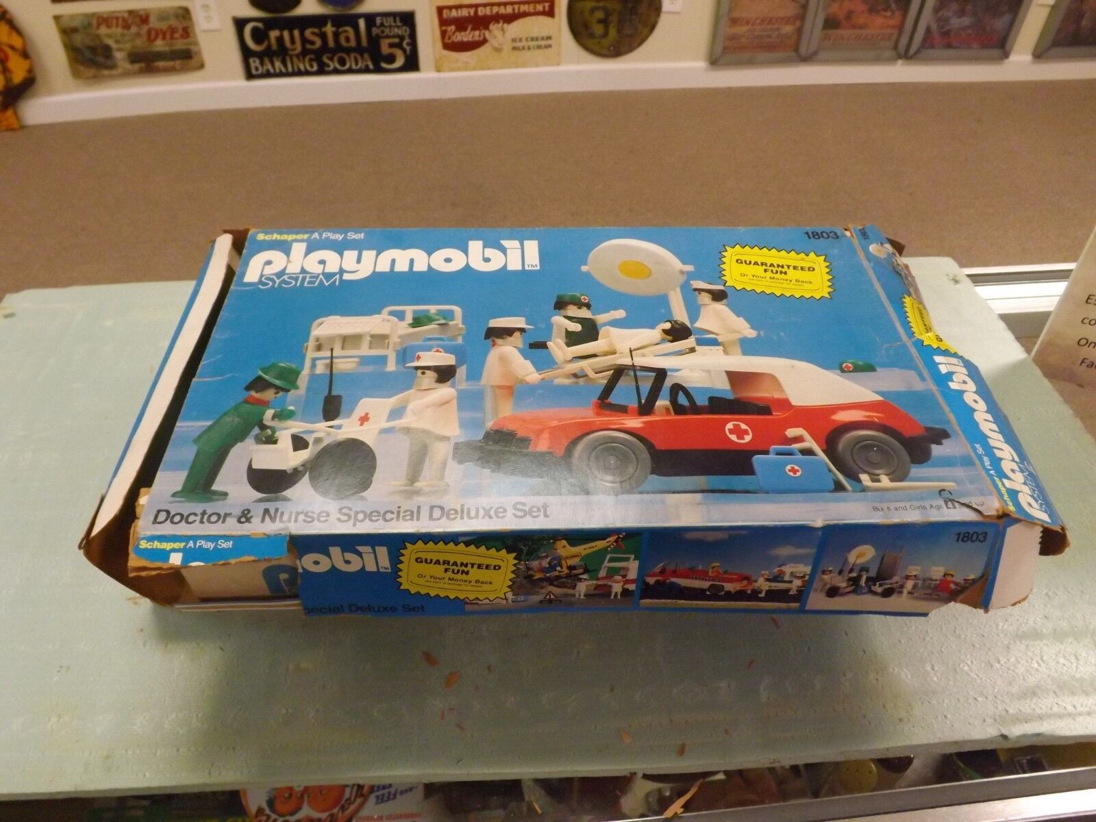 Jahr 1980's Playmobil Doctor And Nurse speziell Deluxe Set 1803 W Box